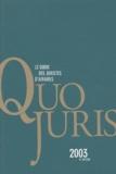 Petites affiches de Seine - Quo Juris 2003 - Le guide des juristes d'affaires.