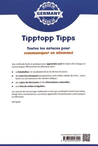 Tipptopp Tipps A1/A2. Toutes les astuces pour communiquer en allemand