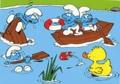 Peyo - Réalise ton superbe coloriage Schtroumpfs - Schtroumpfons-nous en barque !.
