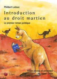 Philibert Ledoux - Introduction au droit martien.