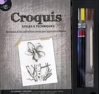 Philip Berrill - Croquis, styles & techniques - Avec 1 livre d'instructions, 4 crayons à croquis, 1 estompe, 1 gomme, 1 taille-crayon, 1 tablette à croquis.