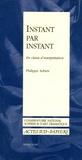Philippe Adrien - Instant par instant - En classe d'interprétation.