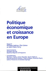 Philippe Aghion - Politiques économiques et croissance (CAE n. - 59).