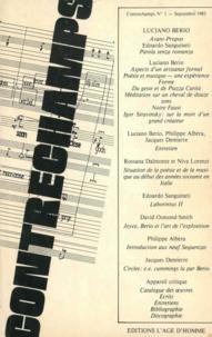Philippe Albèra - Luciano Berio - Revue Contrechamps n°1.