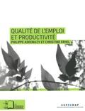 Philippe Askenazy et Christine Erhel - Qualité de l'emploi et productivité.