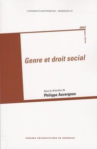 Philippe Auvergnon et Isabelle Schomann - Genre et droit social.