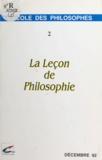 Philippe Barthélemy et Charles Coutel - La leçon de philosophie (2) - Décembre 92.