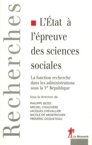 L'Etat à l'épreuve des sciences sociales. La fonction recherche dans les administrations sous la Ve République