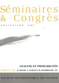 Philippe Biane et Jacques Faraut - Analyse et probabilités.