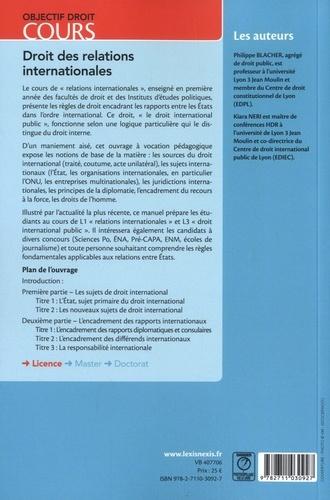 Droit des relations internationales 7e édition