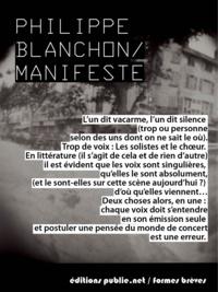 Philippe Blanchon - Manifeste.