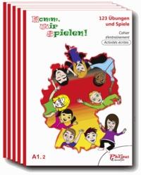 Philippe Bonnard - Komm, wir spielen ! A1.2 - 123 Ubungen und spiele, Cahier d'entraînement, Activités écrites. Pack de 5 volumes.