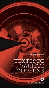Philippe Bonnet - Textes de variété moderne.