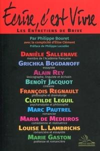 Philippe Bouret - Ecrire, c'est vivre - Les entretiens de Brive.