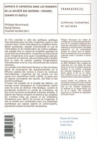 Experts et expertise dans les mandats de la Société des Nations : figures, champs et outils
