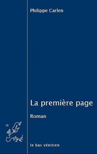 Philippe Carlen - La première page.