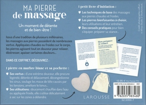 Ma pierre de massage. Le livre avec 1 pierre de massage en marbre blanc