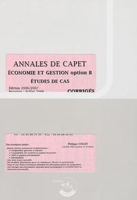 Philippe Collet - Annales de CAPET Economie et Gestion Etudes de cas - Corrigés.