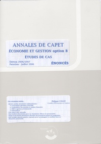 Philippe Collet - Annales de Capet, économie et gestion option B - Etude de cas.