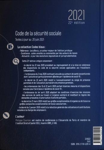 Code de la sécurité sociale  Edition 2021