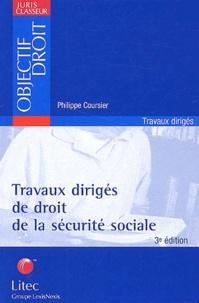 Travaux Diriges De Droit De La Securite Sociale Philippe Coursier