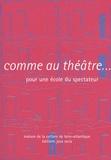 Philippe Coutant - Comme au théâtre... - Pour une école du spectateur.