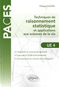 Deedr.fr Techniques de raisonnnement statistique et applications aux sciences de la vie - Avec 32 exercices et 160 QCM corrigés Image