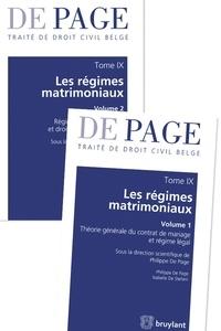 Philippe De Page et Isabelle De Stefani - Traité de droit civil belge - Tome 9, Les régimes matrimoniaux, 2 volumes.