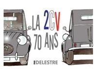 Philippe Delestre - La 2CV - 70 ans.