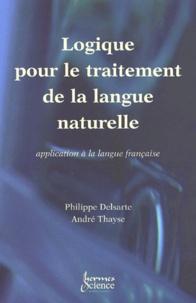 Philippe Delsarte et André Thayse - .