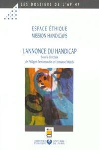 Philippe Denormandie et Emmanuel Hirsch - L'annonce du handicap - Atelier de réflexion.