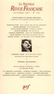 Philippe Di Meo - La Nouvelle Revue Française N° 583 (octobre 2007 : Poésies italiennes - volume I.