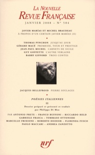 Philippe Di Meo - La Nouvelle Revue Française N° 584 : Poésies italiennes - Janvier 2008, Volume 2.