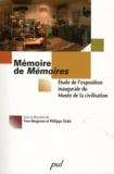 Philippe Dubé - Mémoire de Mémoires - Etude de l'exposition inaugurale du Musée de la civilisation.