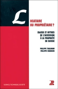 Philippe Favarger et Philippe Thalmann - .