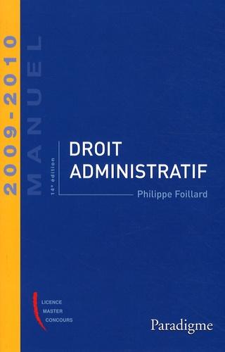 Philippe Foillard - Droit administratif 2009-2010.