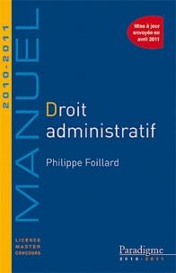 Philippe Foillard - Droit administratif 2010-2011.