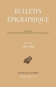 Philippe Gauthier - Bulletin épigraphique - Tome 11, 1987-1989.