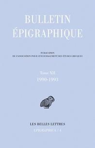 Philippe Gauthier - Bulletin épigraphique - Tome 12, 1990-1993.