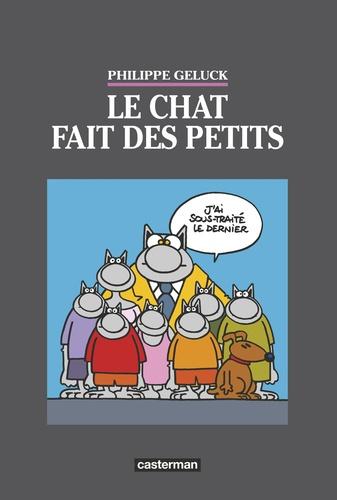 Philippe Geluck - Le Chat Tome 20 : Le chat fait des petits - 3 volumes + 1 planche en bois numérotée et signée.