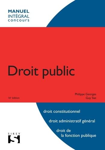 Philippe Georges et Guy Siat - Droit public.