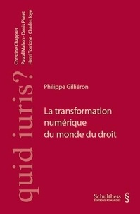 Philippe Gilliéron - La transformation numérique du monde du droit.