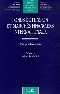 Philippe Grosjean - Fonds de pension et marchés financiers internationaux.