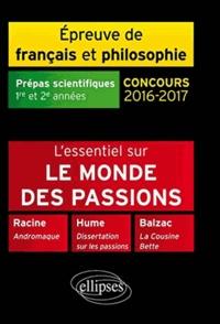 Deedr.fr L'essentiel nouveau thème français philosophie - Epreuve de français et philosophie, prépas scientifiques : concours 2016-2017 Image