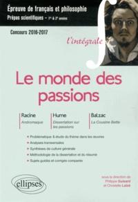 Satt2018.fr Le monde des passions - Racine, Andromaque ; Hume, Dissertation sur les passions ; Balzac, La Cousine Bette Image
