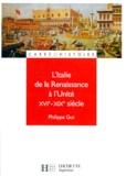 Philippe Gut - L'Italie de la Renaissance à l'Unité, XVIème-XIXème siècle.