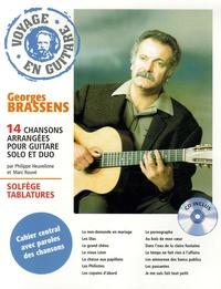 Voyage en guitare- 14 Chansons arrangées pour guitare solo et duo Georges Brassens - Philippe Heuvelinne |