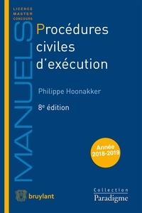 Procédures civiles d'exécution - Philippe Hoonakker pdf epub