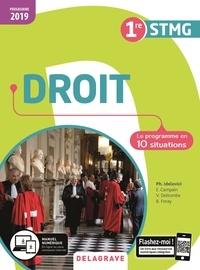 Philippe Idelovici et Elisabeth Campain - Droit 1re STMG - Le programme en 10 situations.