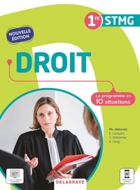 Philippe Idelovici - Droit 1re STMG - Le programme en 10 situations.